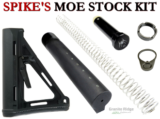 Spike's Tactical AR-15 MOE Stock Kit - Various Colors