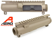 APAR610411A Aero Precision Assembled AR15 Upper Receiver - No Forward Assist - FDE