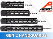 APPG100002-GEN2 - Aero Precision AR15 Enhanced M-LOK Handguards - GEN 2 - Black