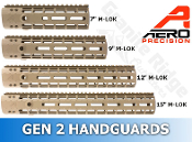 APPG100002-GEN2-FDE Aero Precision AR15 Enhanced M-LOK Handguards - GEN 2 - FDE
