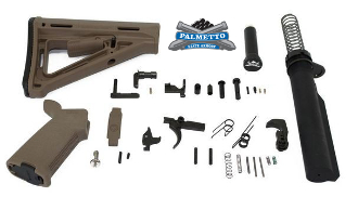 PSA MOE AR-15 Complete Mil-Spec Lower Build Kit - FDE