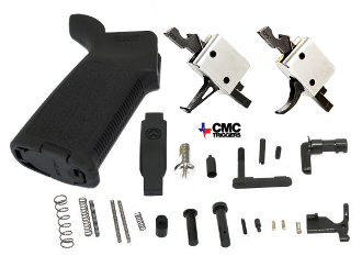 CMC Flat or Curved MOE AR-15 Lower Parts Kit - Various Colors - 91501 - 91503 - 91502 - 91504 - 92502 - 92504