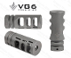 APVG100018A - VG6 Precision Gamma 65 BBSS Muzzle Device - Bead Blasted SS