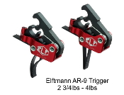 ELF AR-9 Trigger - Curved or Straight 2 3/4lbs-4lbs Drop In - Elftmann Tactical AR-9-736902490068 AR-9 - AR-9-736902490044 AR-9