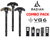 Radian Raptor LT Charging Handle + VG6 Epsilon or Gamma COMBO - Radian Raptor LT Charging Handle - VG6 Precision Epsilon - VG6 Precision Gamma