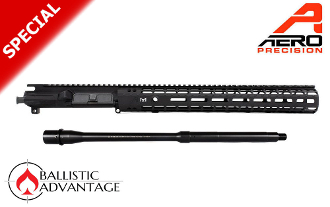 "M4E1 Enhanced Upper/Handguard 15"" MLOK Combo + Ballistic Advantage 5.56 Mid Length Government Profile Barrel - BABL556015M"