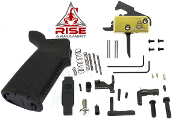 RISE Armament MOE AR-15 Lower Parts Kit - DTOM w/ Anti Walk Pins